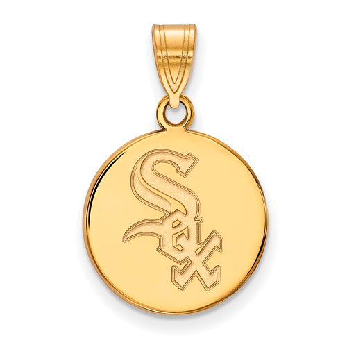 SS w/GP MLB  Chicago White Sox Medium Disc Pendant