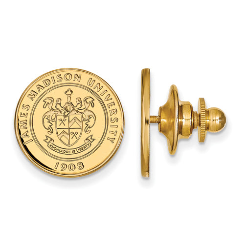 SS w/GP James Madison University Crest Lapel Pin