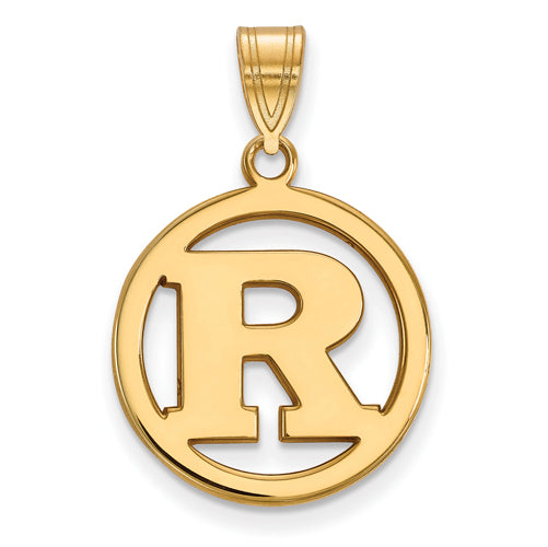 SS w/GP Rutgers Med Pendant in Circle