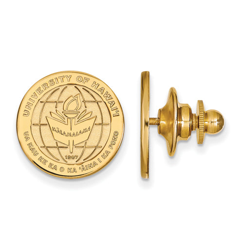SS w/GP The University of Hawaii Crest Lapel Pin