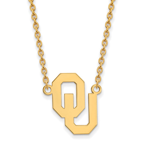 SS w/GP Oklahoma Large Pendant w/Necklace