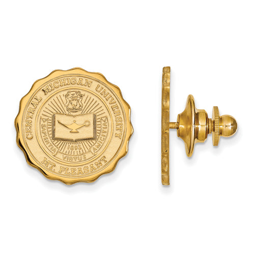 SS w/GP Central Michigan University Crest Lapel Pin