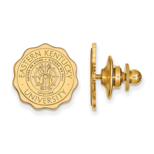 SS w/GP Eastern Kentucky University Crest Lapel Pin