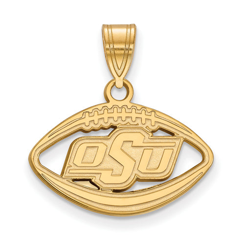SS w/GP Oklahoma State University Pendant in Football