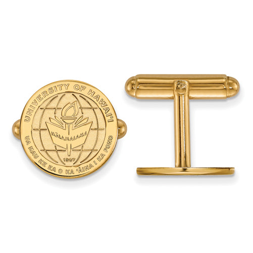 SS w/GP The University of Hawaii Crest Cuff Link