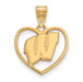 SS w/GP University of Wisconsin Pendant in Heart