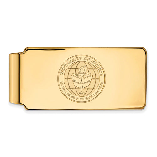 SS w/GP The University of Hawaii Money Clip Crest