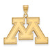 14ky University of Minnesota Large Inset Logo Pendant