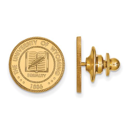 SS w/GP The University of Wyoming Crest Lapel Pin
