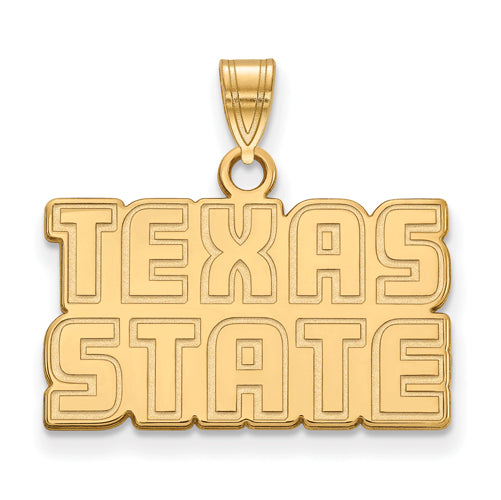"SS GP Texas State University Small ""TEXAS STATE"" Pendant"