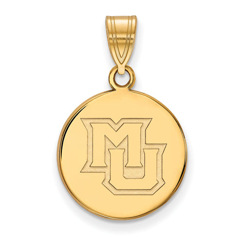 SS w/GP Marquette U Medium Alt Athletics Disc Pendant