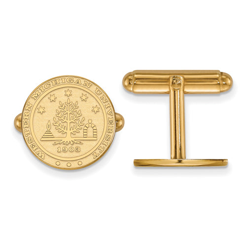 14ky Western Michigan University Crest Cuff Links
