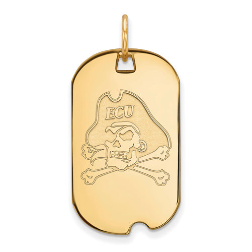 14ky East Carolina University Small Pirates Dog Tag