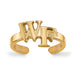 SS w/GP Wake Forest University WF Toe Ring