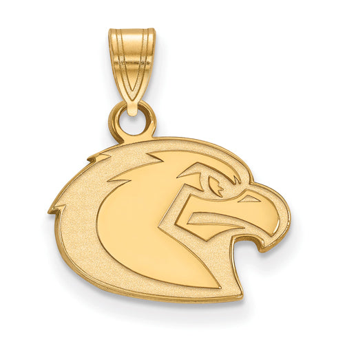 SS w/GP Marquette University Small Golden Eagle Pendant