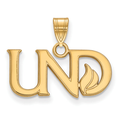 SS w/GP University of North Dakota Small UND Logo Pendant