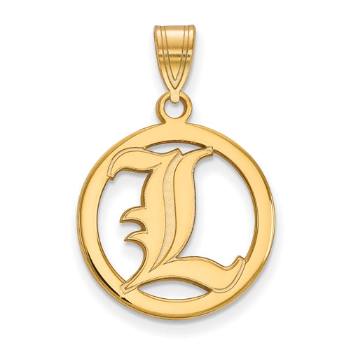 SS w/GP University of Louisville Med Pendant in Circle