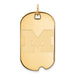 SS w/GP University of Michigan Large Dog Tag