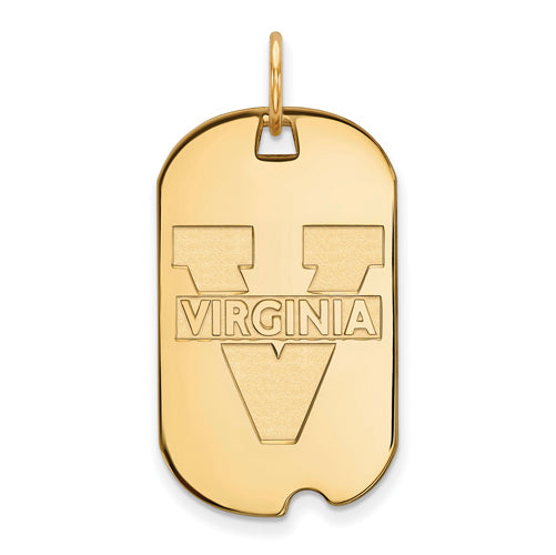 SS w/GP University of Virginia Small Text Logo Dog Tag