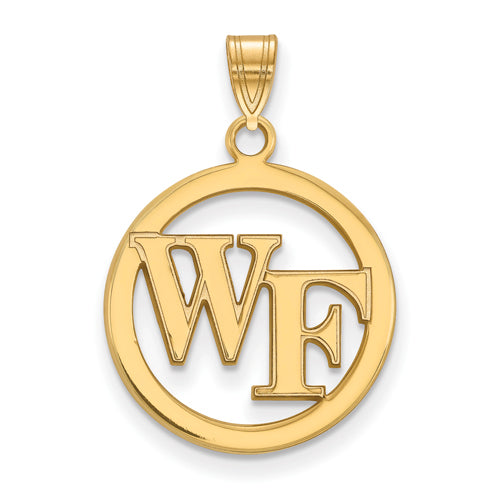 SS w/GP Wake Forest University Sm Pendant in Circle