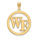 SS w/GP Wake Forest University Large Pendant in Circle