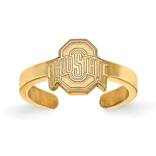 SS w/GP Ohio State U Buckeyes Logo Toe Ring