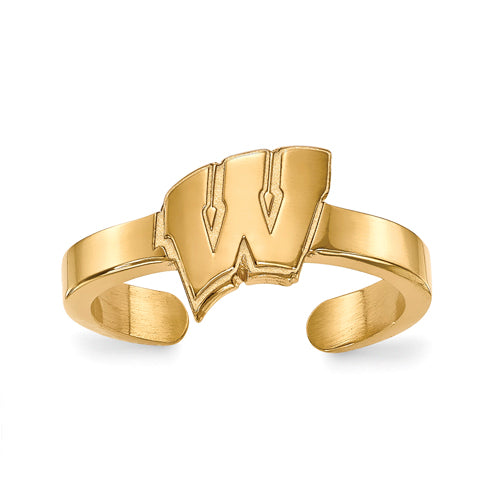 SS w/GP University of Wisconsin Toe Ring