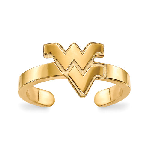 SS w/GP West Virginia University Toe Ring