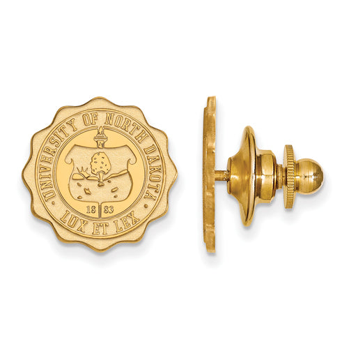 SS w/GP University of North Dakota Crest Lapel Pin