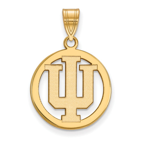 SS w/GP Indiana University Med Pendant in Circle