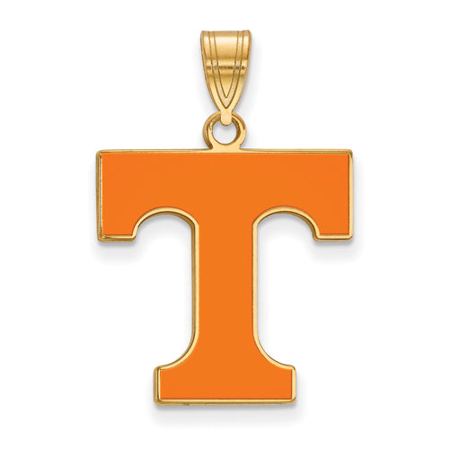 SS w/GP University of Tennessee Large Enamel Volunteers Pendant