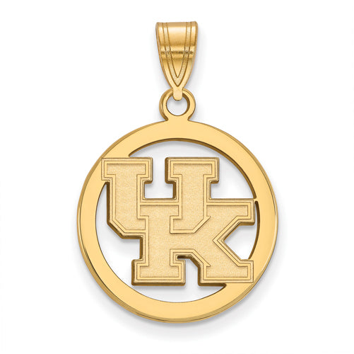 SS w/GP University of Kentucky Sm Pendant in Circle
