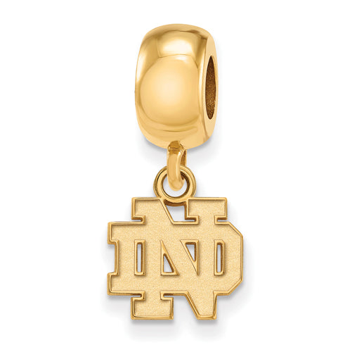 SS GP University of Notre Dame Dangl Charm Bead