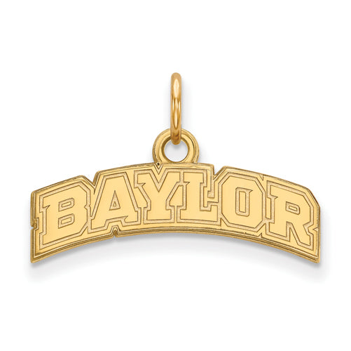 SS w/GP Baylor University XS Arched Pendant