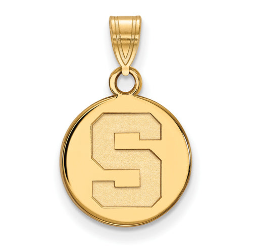 SS w/GP Michigan State University Small Disc Pendant