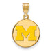 SS w/GP University of Michigan Medium Enamel Disc Pendant