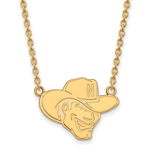 SS w/GP University of Nebraska Large Pendant w/Necklace