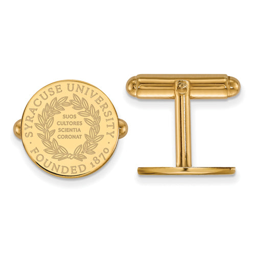 SS w/GP Syracuse University Crest Cuff Links