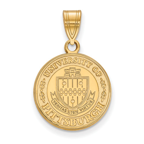 SS w/GP University of Pittsburgh Medium Crest Pendant