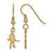 SS w/GP West Virginia U XS Mountaineer Dangle Earrings