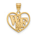 SS w/GP Wake Forest University WF w/deacon Pendant in Heart