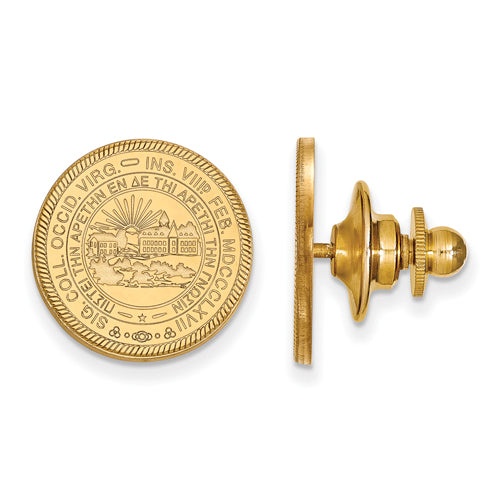 14ky West Virginia University Crest Lapel Pin