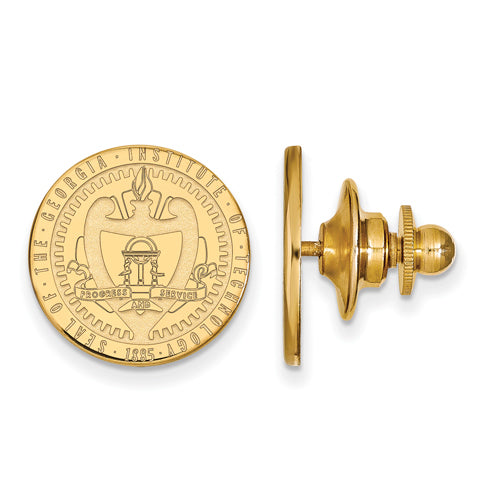 SS w/GP Georgia Institute of Technology Crest Lapel Pin