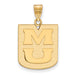 14ky University of Missouri Large MU Pendant