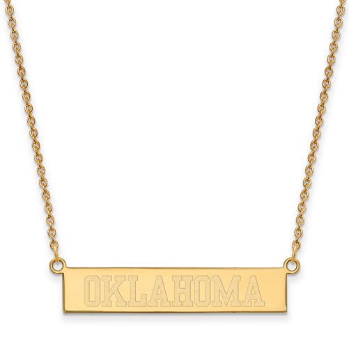 SS GP The University of Oklahoma Small Bar Necklace