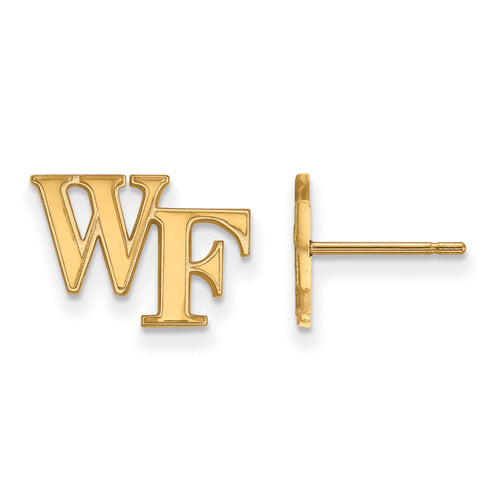 SS w/GP Wake Forest University XS Post WF Earrings