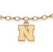 SS w/GP University of Nebraska XS Anklet