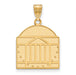 SS w/GP University of Virginia Large Shield Pendant