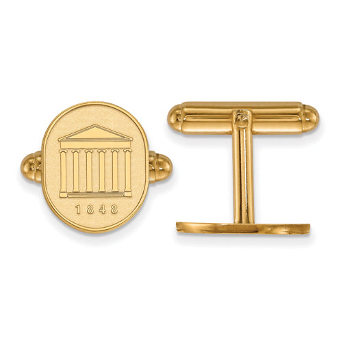 SS w/GP LogoArt U of Miss Crest Cuff Links