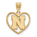 SS w/GP University of Nebraska Pendant in Heart